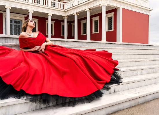 Design by Nikos - βραδυνο φόρεμα winter 2020